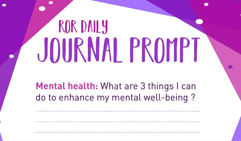 Mental Health Journal Prompt : 3 Things