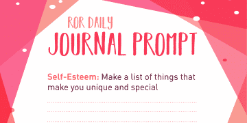 self esteem journal prompts