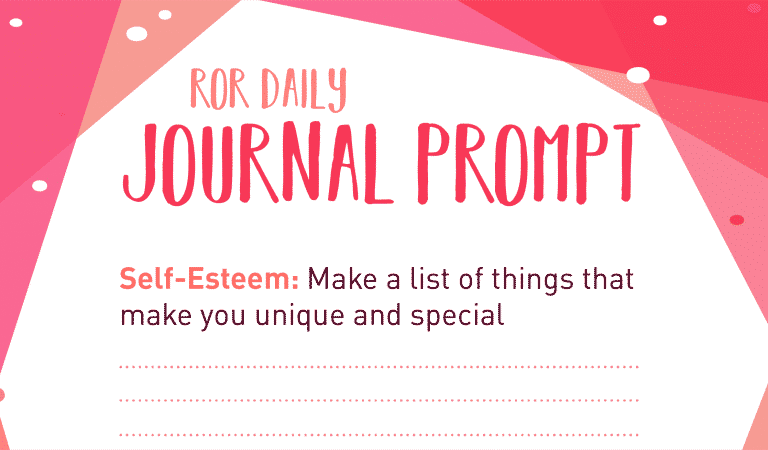 Self Esteem Journal Prompts: Specialness
