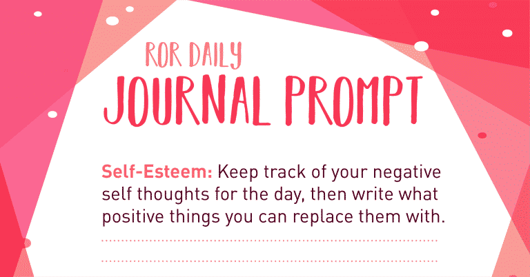 self esteem journal prompt