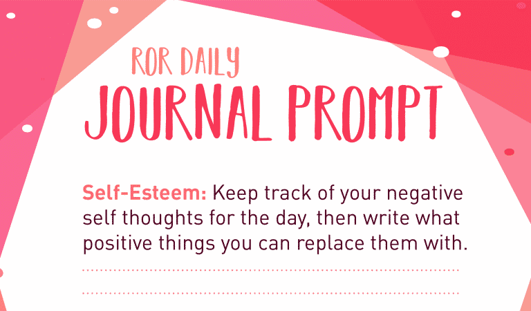 Self-Esteem Journal Prompt: Negative Thoughts