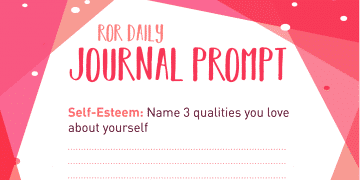 self esteem journal prompt