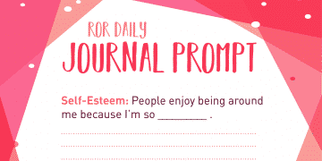 Self esteem journal prompt enjoy-able