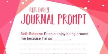 Self esteem journal prompt enjoy-able