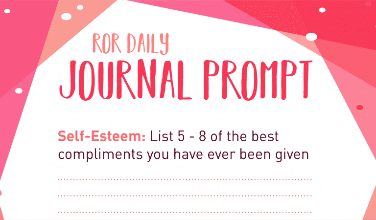 Self-Esteem Journal Prompt: Compliments