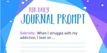 sobriety journal prompt