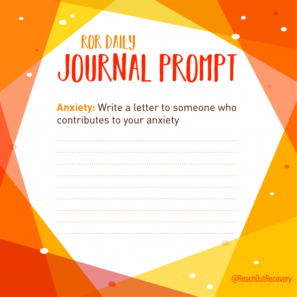 anxiety journal quote write a letter