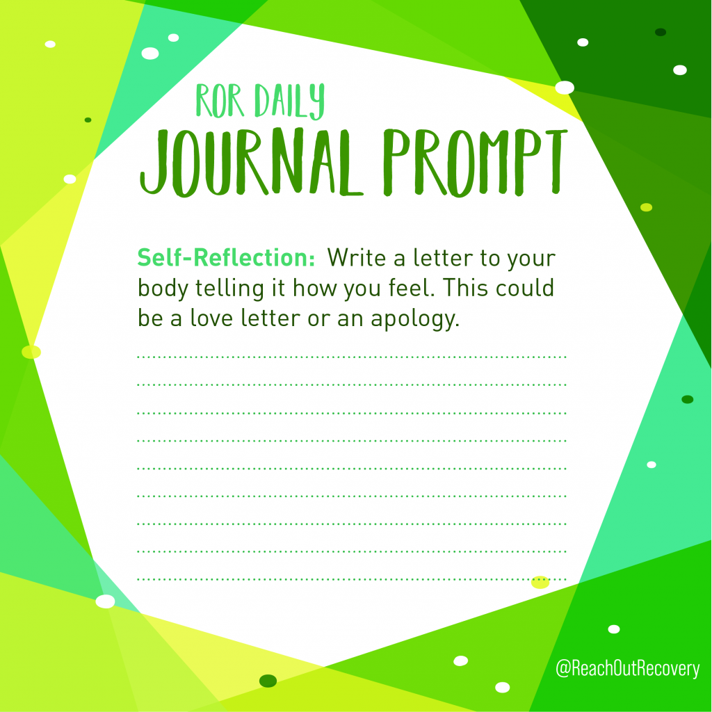 Self reflection journal prompt my body