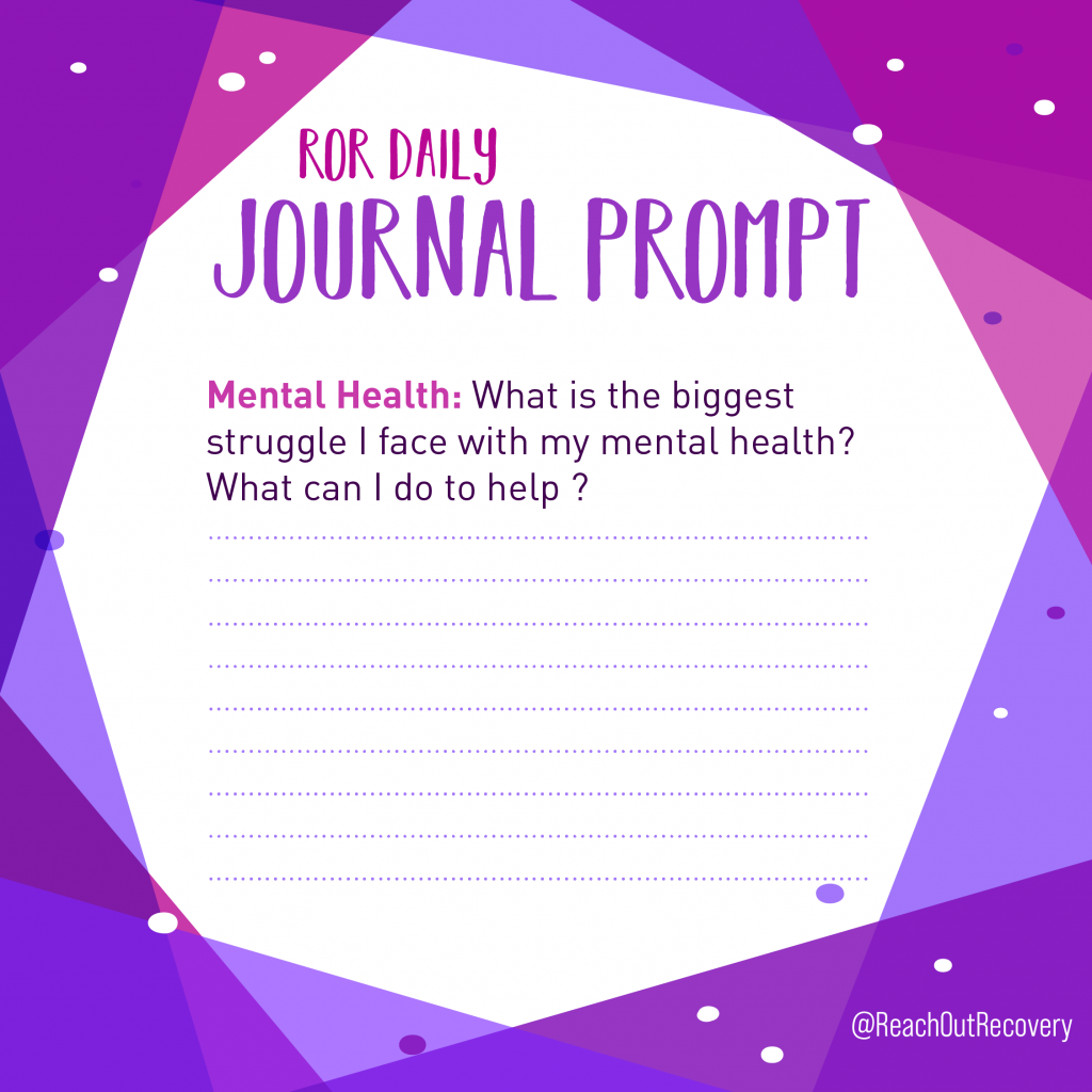 mental health journal prompt Struggle