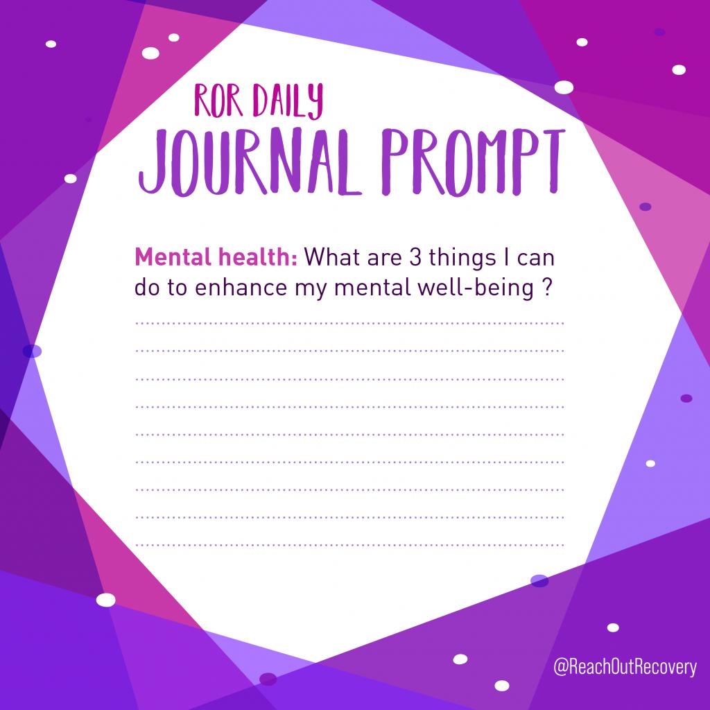 mental health journal prompt three things