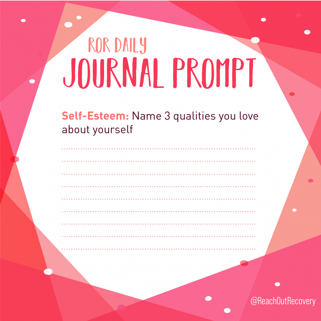 Self esteem prompt for journaling