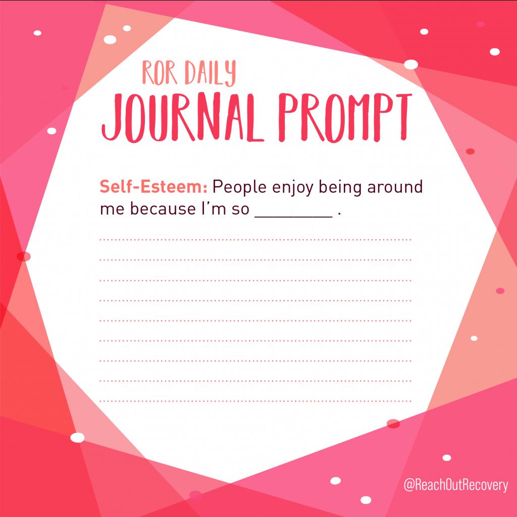 Self esteem journal prompt I'm enjoy-able