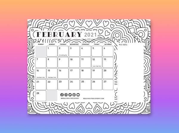 2021 Calendar February