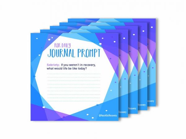 Your life sobriety journal prompt