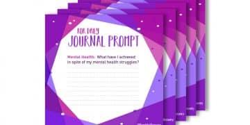 Mental health Journal prompt my achievments