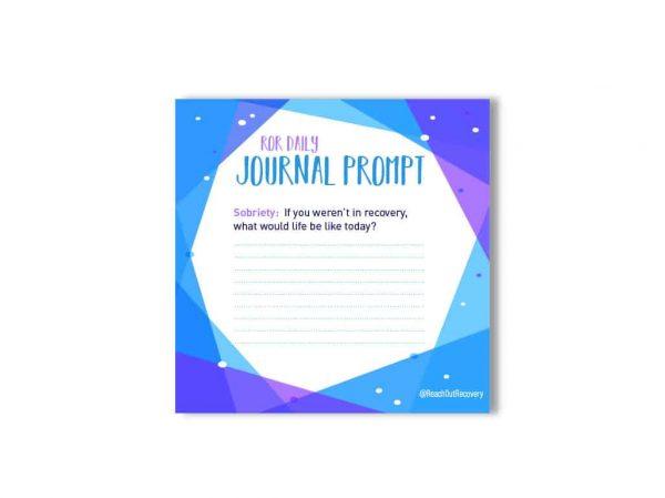 sobriety journal prompt