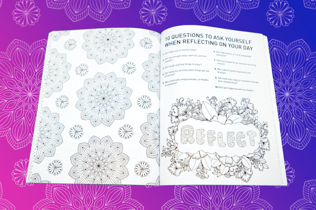 Mandala Coloring page for Step 10 in Find Your True Colors