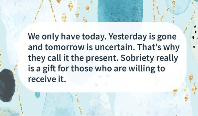 Sober Quote: Living In The Present
