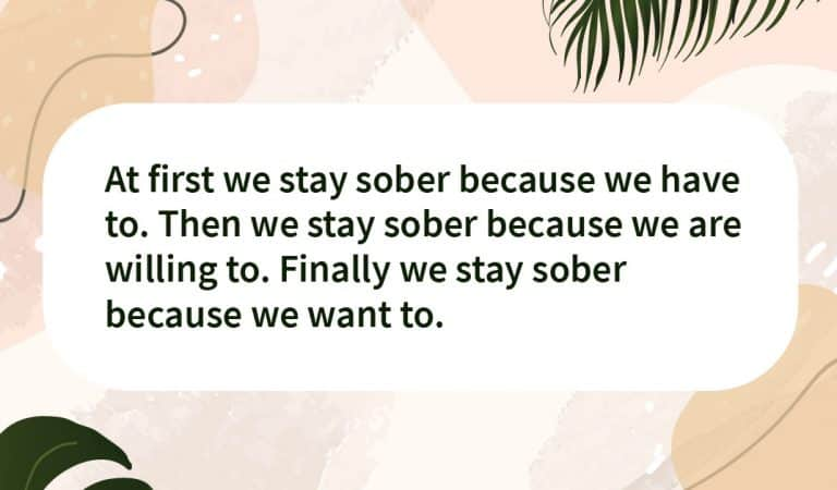 Sober Quote: Staying Sober
