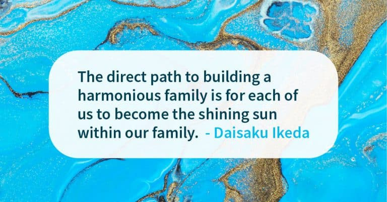 Building a harmonious family