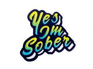 yes, I'm sober sticker