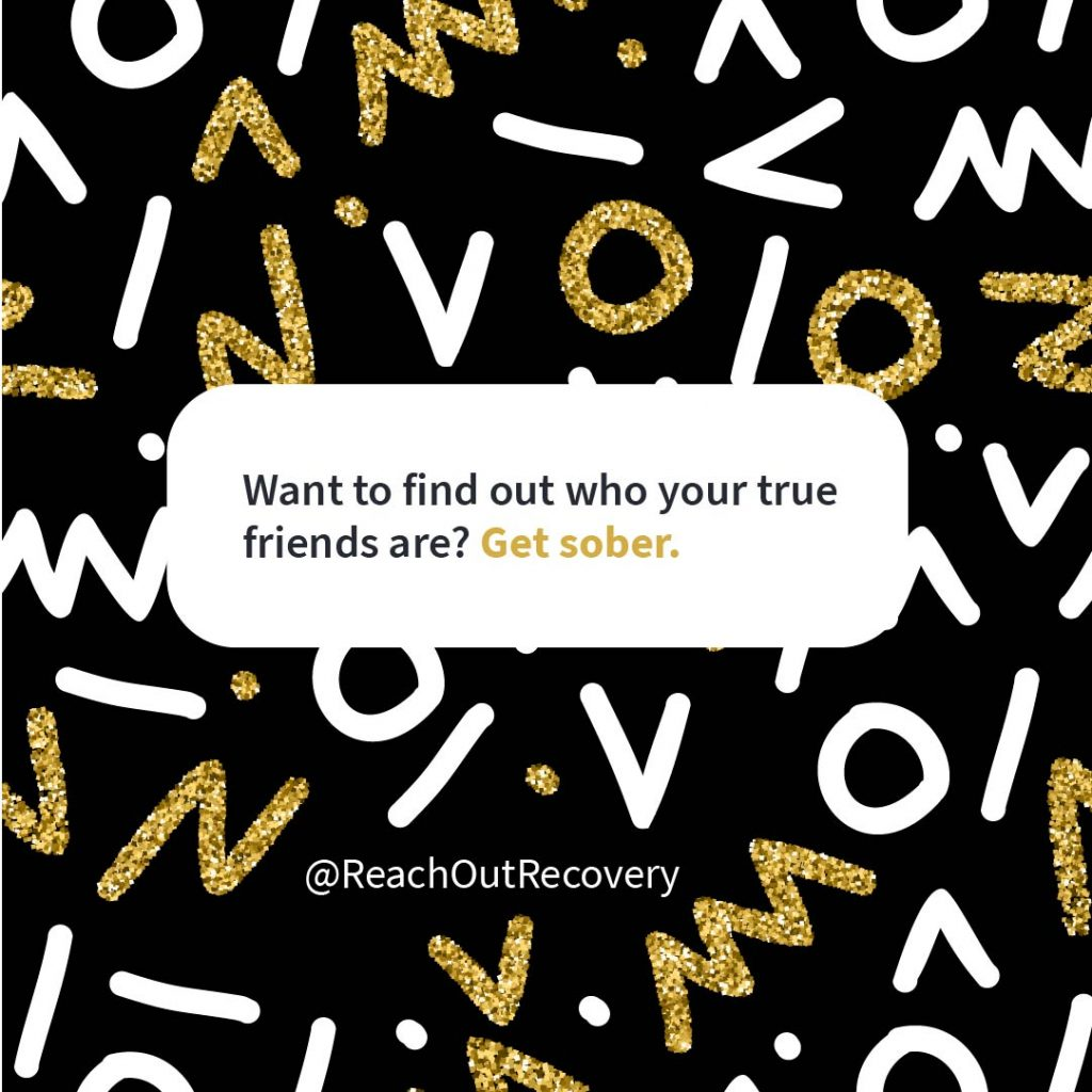 Recovery quote True friends