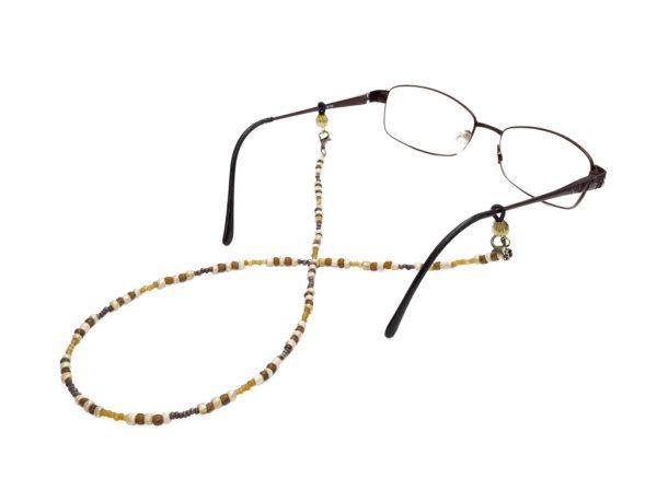 Brown eyeglass chain