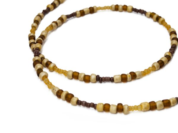 brown Indian Glass mask chain