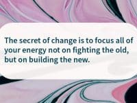 Secret of change recovery quote