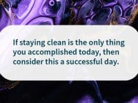staying clean sobriety quote