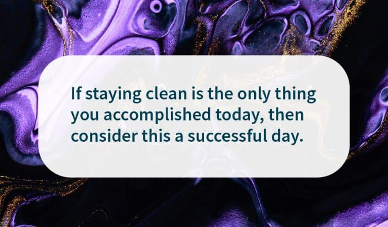 Sobriety Quote: Staying Clean