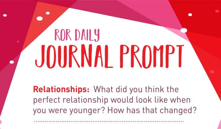 Relationship Journal Prompt: Younger Ideals