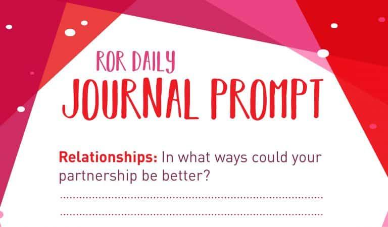 Relationship Journal Prompt: Room For Improvement