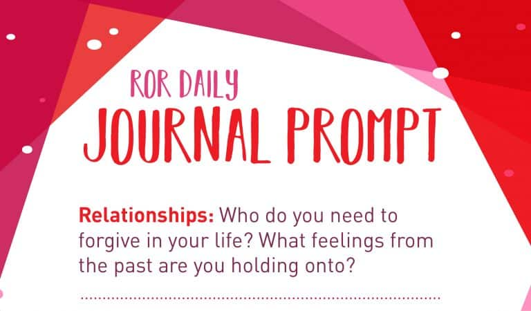 Relationship Journal Prompt: Forgive And Let Go