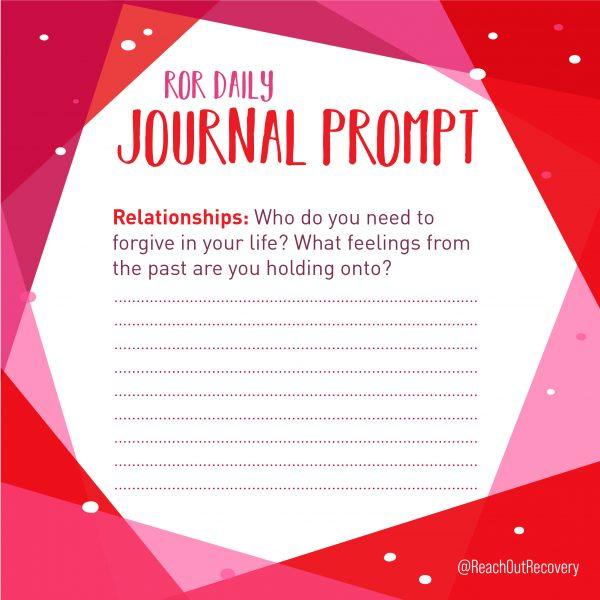relationship journal prompt