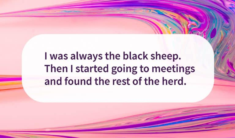 Sober Quote: Black Sheep