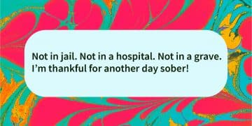 Thank for a sober day quote