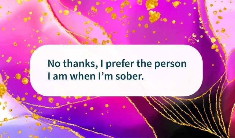 Sober Quote: I Prefer Who I Am Sober