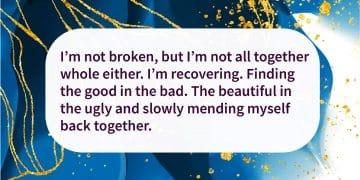 I'm not broken quote