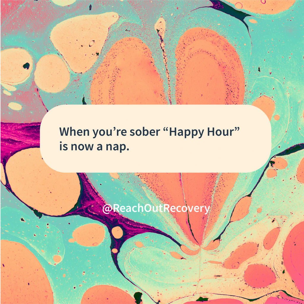 happy hour when you're sober